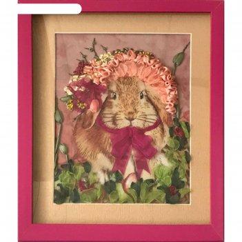 Набор для вышивания лентами «нарядный кролик»»