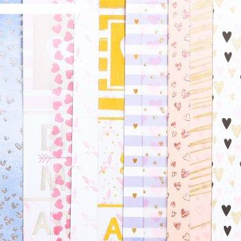 Набор бумаги для скрапбукинга «время мечтать», 10 листов, 20 x 20 см