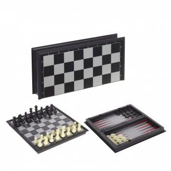 Игра настольная магнитная 2 в1 (шахматы, нарды), l25 w12 h4 см