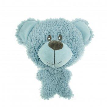 Игрушка aromadog big head мишка для собак big head, 12 см, голубой