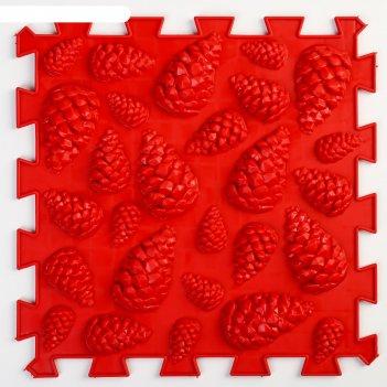 Детский массажный коврик   жёсткие шишки, цвет микс