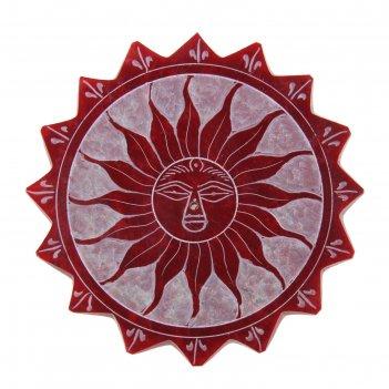 Подставка под благовония камень солнце 0,5х10х10 см