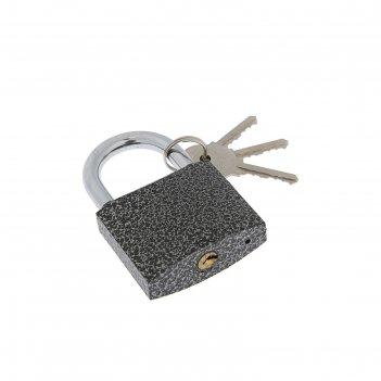 Замок навесной park вс3р63, 3 ключа, стальной, серый