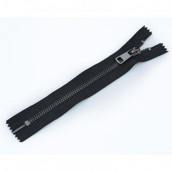 Молния для одежды, неразъёмная, №5тт, 18 см, цвет чёрный