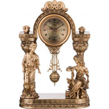 Часы настольные кварцевые с маятником влюбленная парочка 22*10*34 см. диам