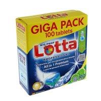 Таблетки для посудомоечных машин lottaall-in-1 giga pack, 100 шт
