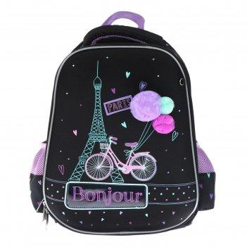 Рюкзак каркасный hatber ergonomic light 38 х 29 х 6, для девочки bonjour p