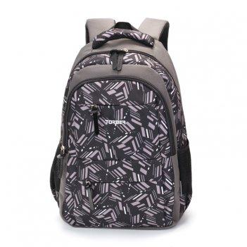Рюкзак torber class x, серый с орнаментом, полиэстер, 45 x 30 x 18 см