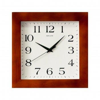 Часы настенные квадратные классика, деревянные