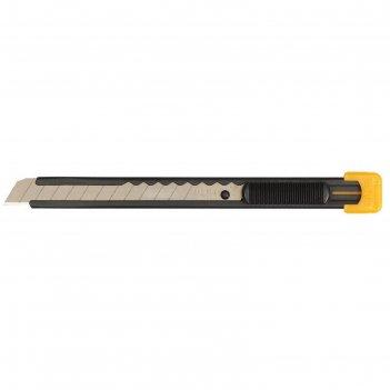 Нож olfa ol-s, с выдвижным лезвием, металлический корпус, 9 мм