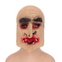 Карнавальная маска баба-яга, латекс