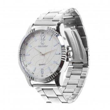 Часы наручные тоничи, d=4,5 см, классические, хром, ремешок 18мм