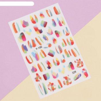 Наклейки для ногтей y-100/329 paint подложка qf
