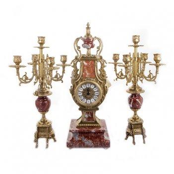 Набор часы (51х18х14 см) + 2 канделябра (52х18х18 см)