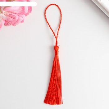 Кисточка, цвет красный 13,5 см