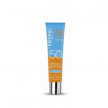 Солнцезащитный крем для лица lirene spf50, увлажняющий, 40 мл
