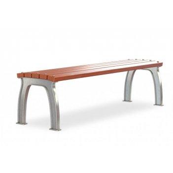 Скамейка без спинки алюминиевая «прокси» 1,8 м