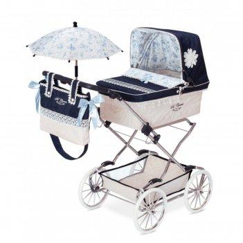 Коляска с сумкой и зонтиком для куклы, серия «романтик», 90 см
