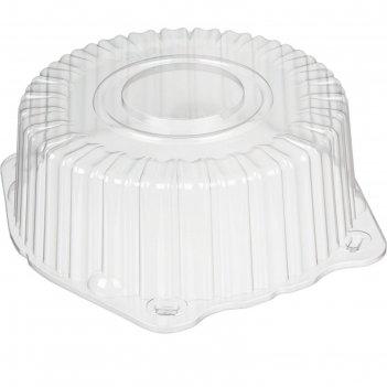Крышка к контейнеру т-225к (м), круглая, прозрачная, 24,5х24,5х8,5 см / 15