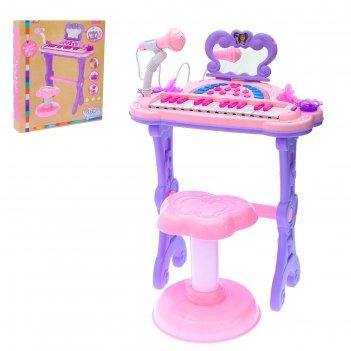 Пианино мечта девочки с usb и mp3 - разъёмами, стульчиком, зеркалом, микро