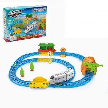 Железная дорога пассажирский поезд, световые и звуковые эффекты