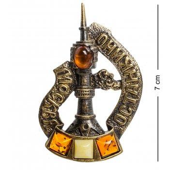 Am-1098 магнит останкино (латунь, янтарь)