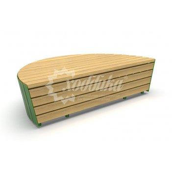Модульная скамейка «экополис-3»
