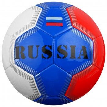 Мяч футбольный minsa russia р.5, 32 панели, pvc, машин сшивка, 340 гр