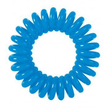Резинки для волос dewal beauty пружинка, цвет синий  (3 шт.)