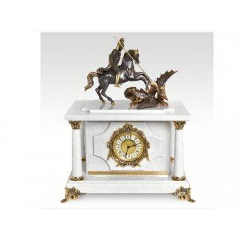 Часы-сейф из мраморагеоргий победоносец(арт.с-030)