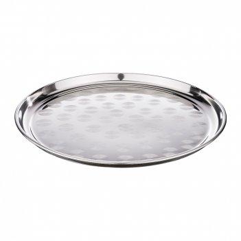 Поднос agness, круглый, 3d дизайн, 35 см. без упаковки (кор=60шт.)