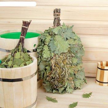 Веник для бани экстра из кавказского дуба с полынью