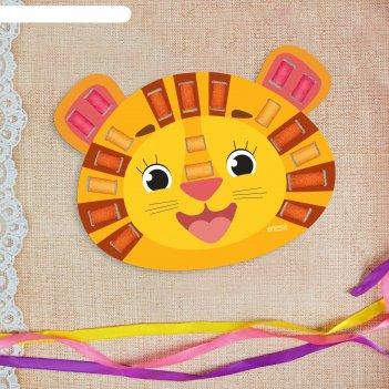 Вышивка лентами веселый львенок для самых маленьких