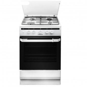 Плита газовая hansa fcgw51050, 4 конфорки, 58 л, газовая духовка, белая