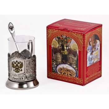 Набор для чая россия (3 пр.) арт. пд-77кс(герб)