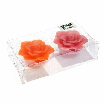 Свеча декоративная (светодиодная, водоплавающая), набор 2шт. роза&qu