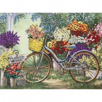 Набор для вышивания лентами «цветы для любимой»