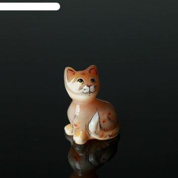 Сувенир «кошка муська», малая, 5x7 см, селенит