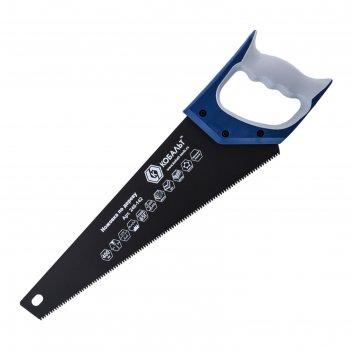 Ножовка по дереву кобальт 246-142, 7 tpi, тефлоновое покрытие, 3d-заточка