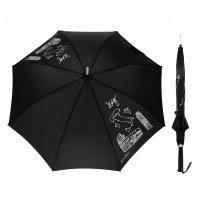Зонт-трость модерн. италия, механический, r=зонт-трость, механический, с п
