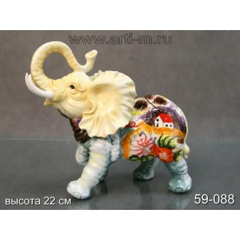 Фигурка слон высота=23 см.ручная роспись (кор-4ш...