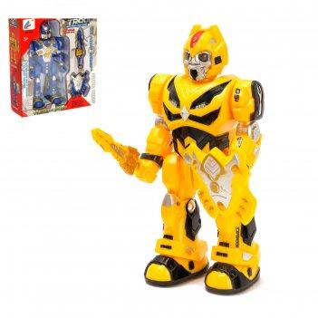 Робот «автобот», световые и звуковые эффекты, ходит, микс