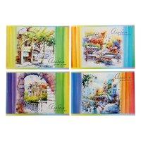 Альбом для рисования а4, 40 листов на скрепке water color, 4 вида микс