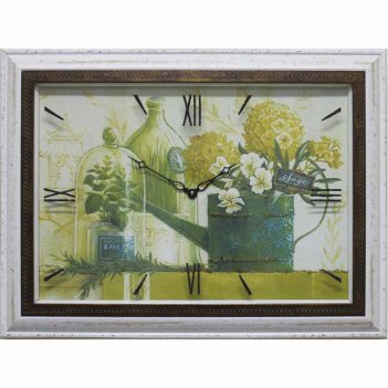 Часы картины династия 04-023-11 зеленый натюрморт