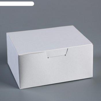 Коробка для наггетсов, куриных крылышек белая 14,5х11,5х7 см