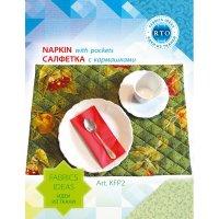 "Набор из ткани рто ""салфетка зеленая с аппликацией"""