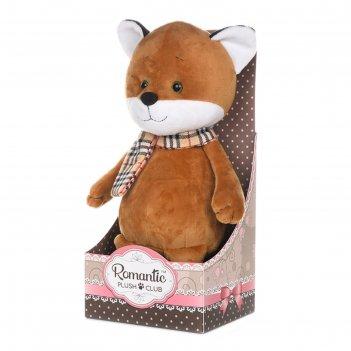 Мягкая игрушка романтичный лисенок в шарфике 20 см mt-gu052019-4-20