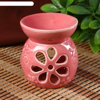 Аромалампа керамика цветик-семицветик микс 8,5х8х8 см