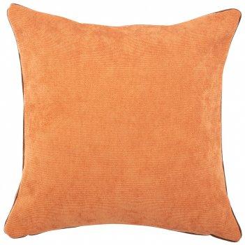 Подушка декоративная лаунж 40х40см,100% п/э, терракотовый