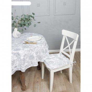 Подушка на стул с рюшей «белое золото», размер 42 x 42 см